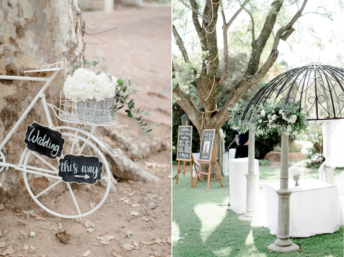 Romantic Modern-Vintage Wedding Ceremony Decor