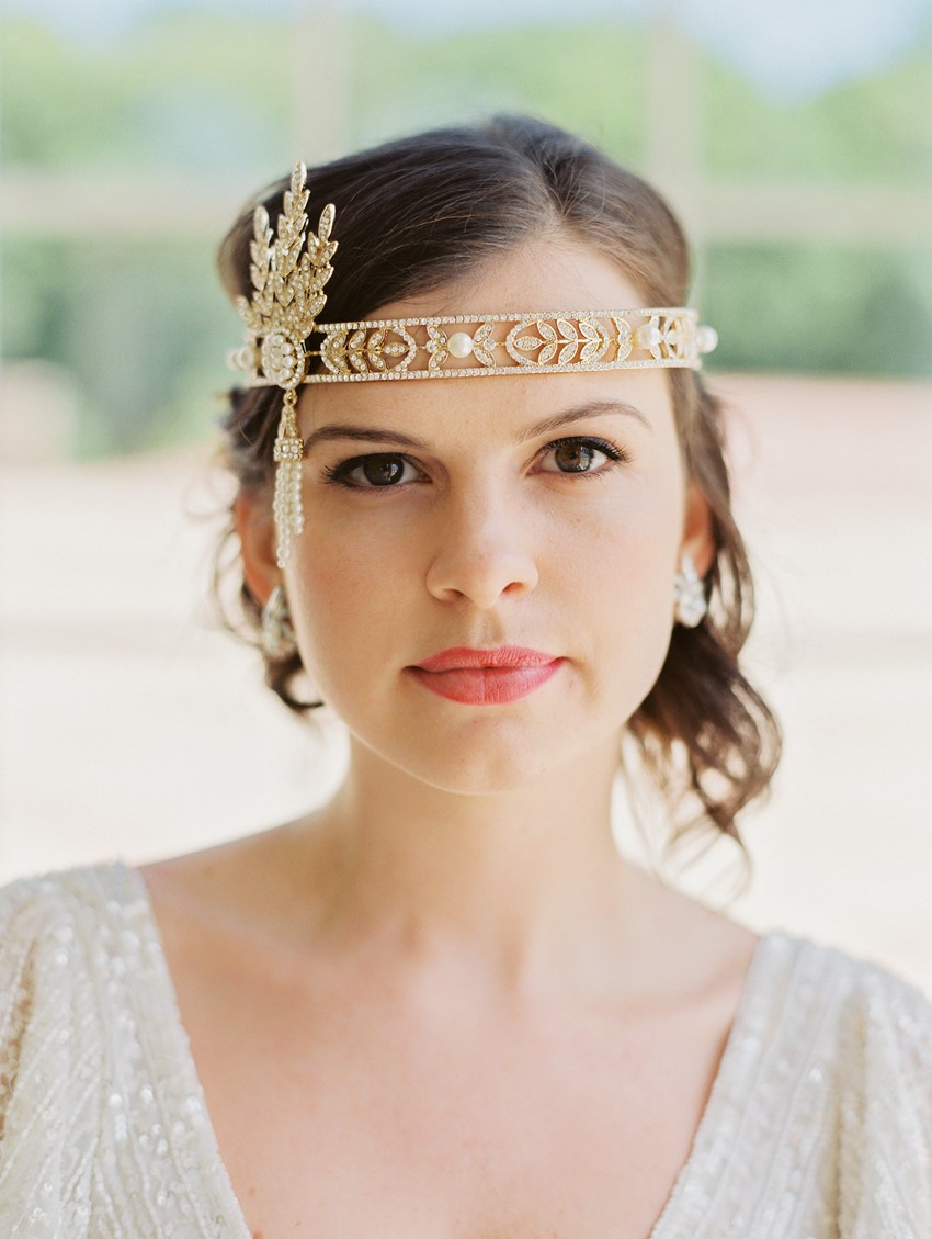 Great Gatsby Inspired Bridal Headpiece // Photography ~ CJK Visuals