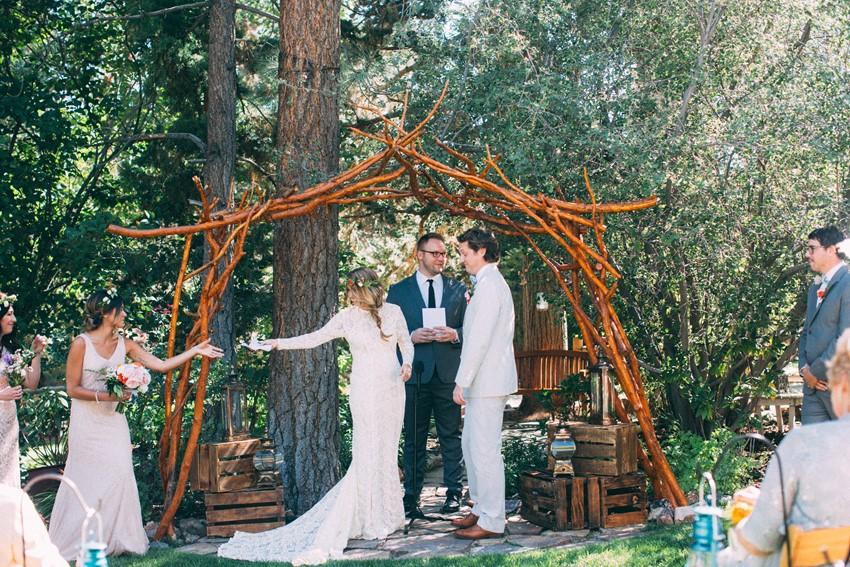 Boho Vintage Wedding Ceremony // Photography ~ The Darlene