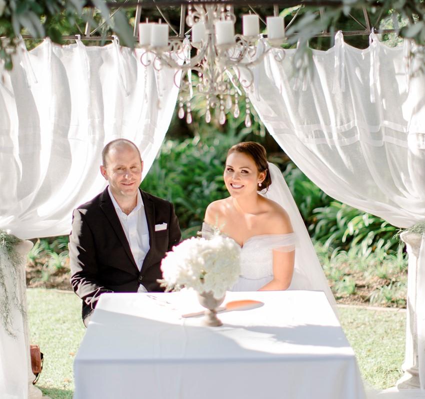 Romantic Garden Wedding Ceremony in South Africa