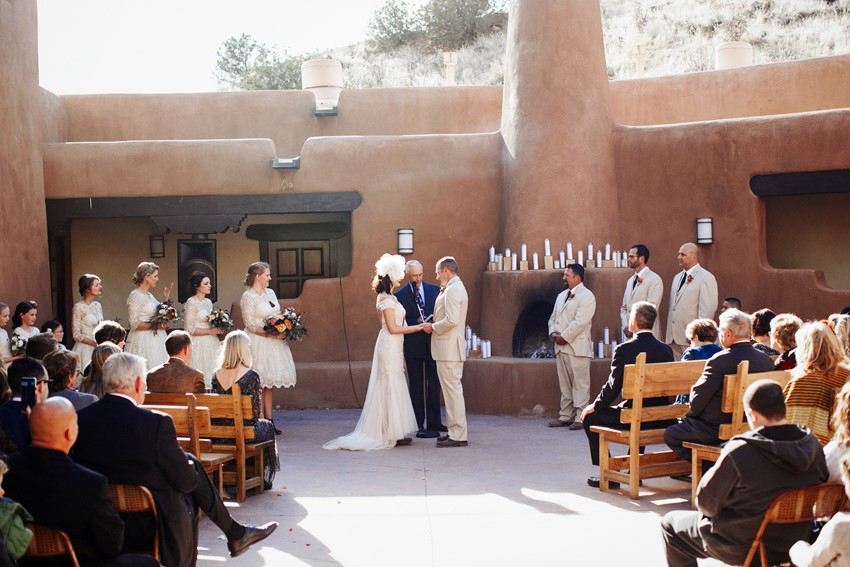 Ghost Ranch Wedding Ceremony // Photography ~ Elizabeth Wells Photography