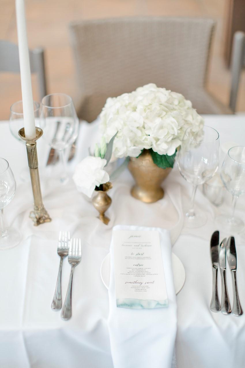 Romantic Modern-Vintage Wedding Place Setting