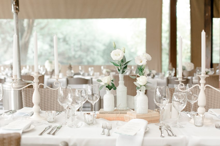 Romantic Modern-Vintage Wedding Centerpiece