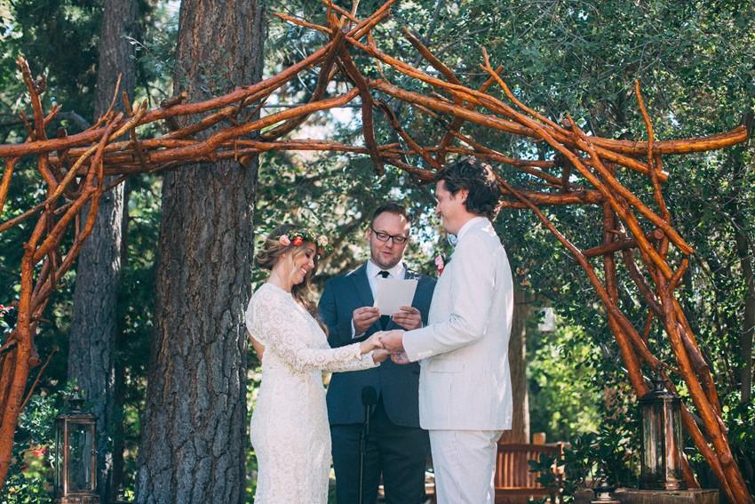 Outdoor Boho Wedding Ceremony // Photography ~ The Darlene