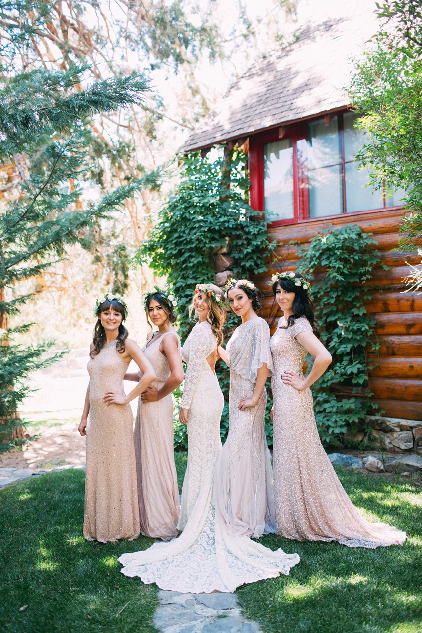 Glamorous Boho Vintage Bride & Bridesmaids // Photography ~ The Darlene