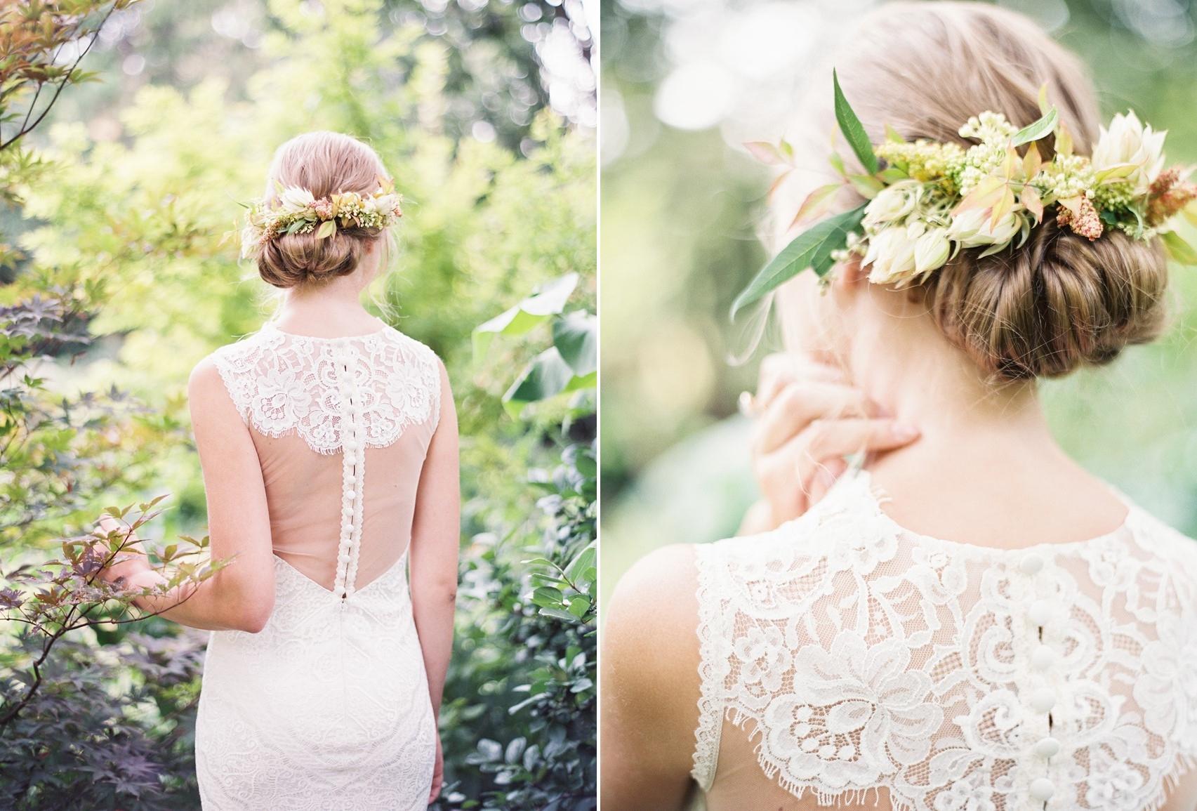 Modern Vintage Floral Bridal Updo // Photography ~ Kayla Barker Fine Art Photography