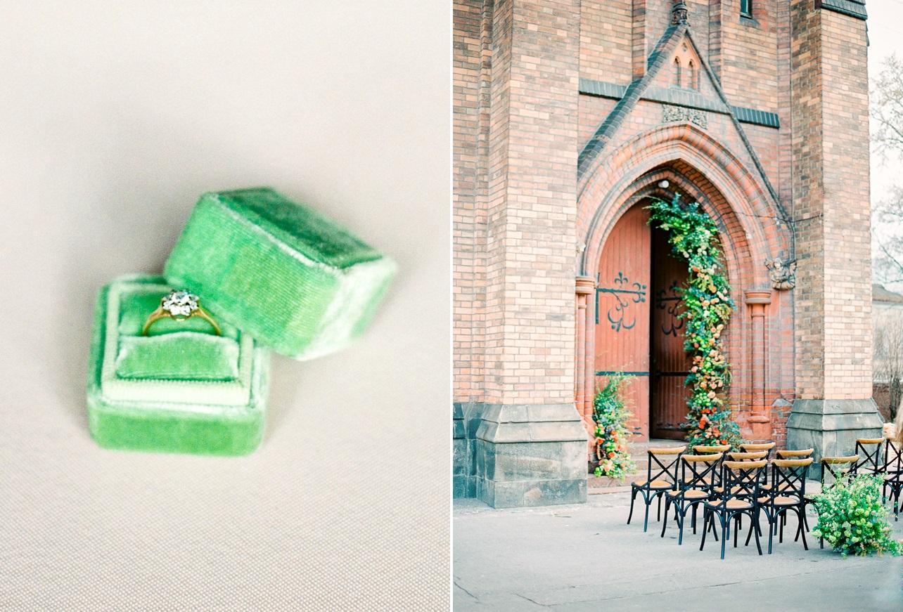 Lush Peach & Green Vintage Wedding Inspiration