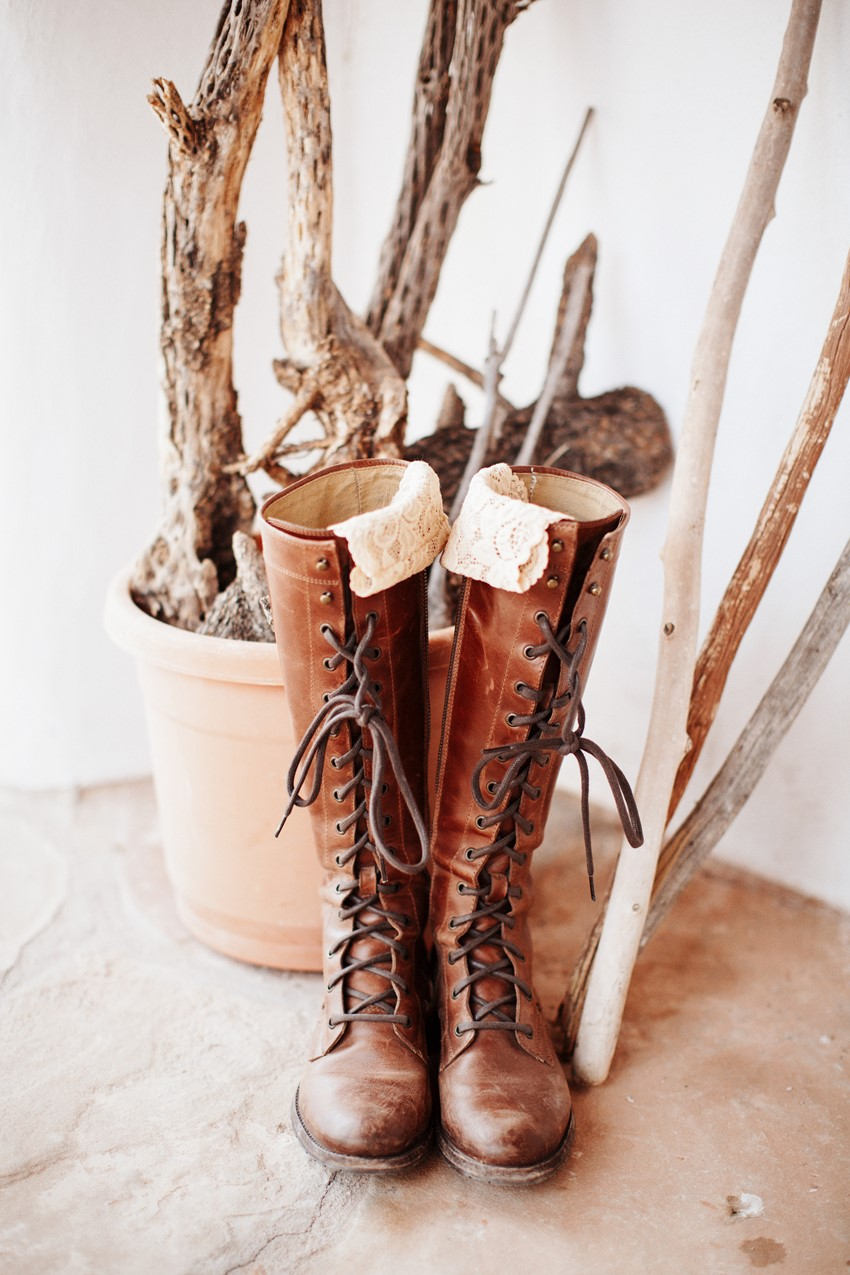 Rustic Vintage Bridal Shoes // Photography ~ Elizabeth Wells Photography
