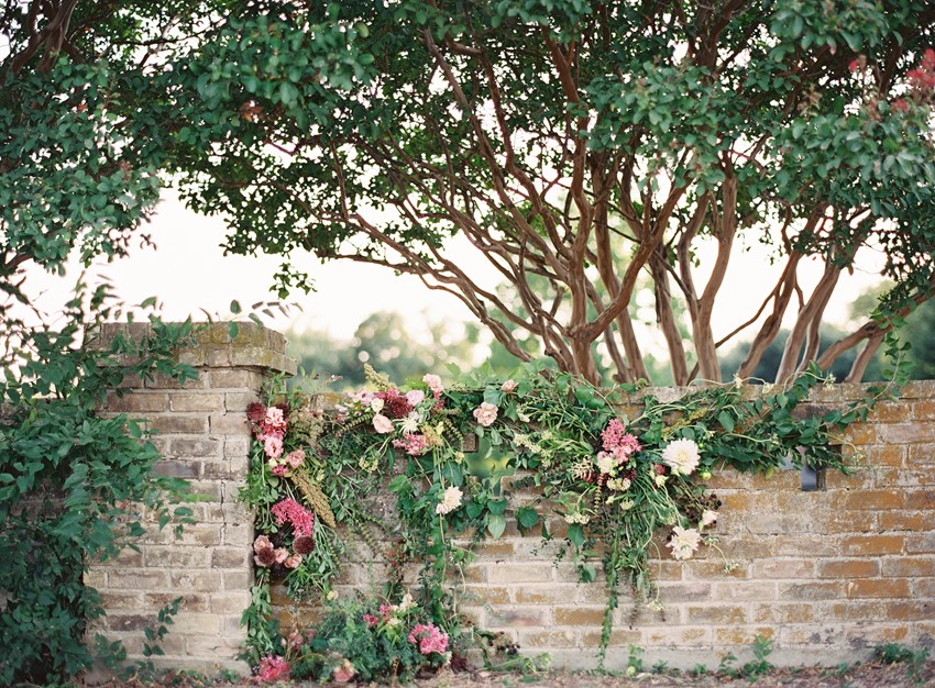 Garden Wedding Floral Wall Backdrop // Photography ~ Kayla Barker Fine Art Photography