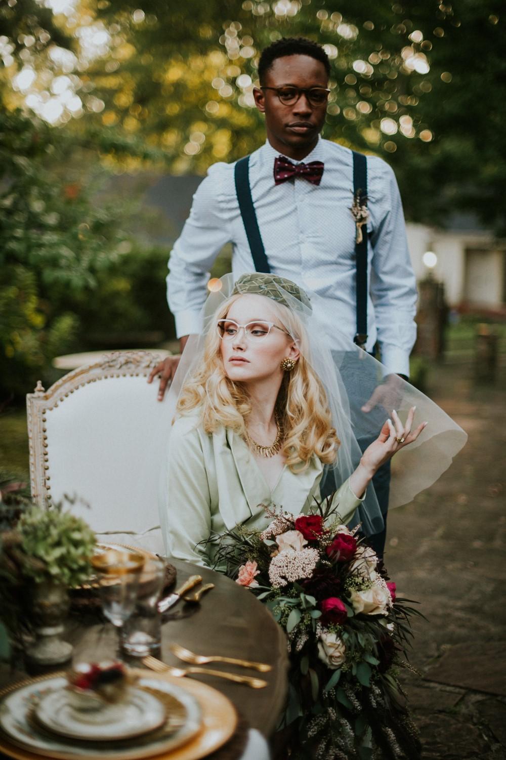 1950s Inspired Bride + Groom // Photography ~ Myranda Randle Photography