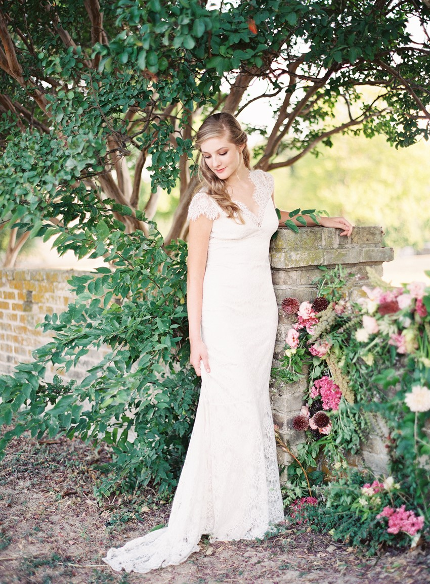 Modern Vintage Garden Wedding Floral Wall Backdrop // Photography ~ Kayla Barker Fine Art Photography