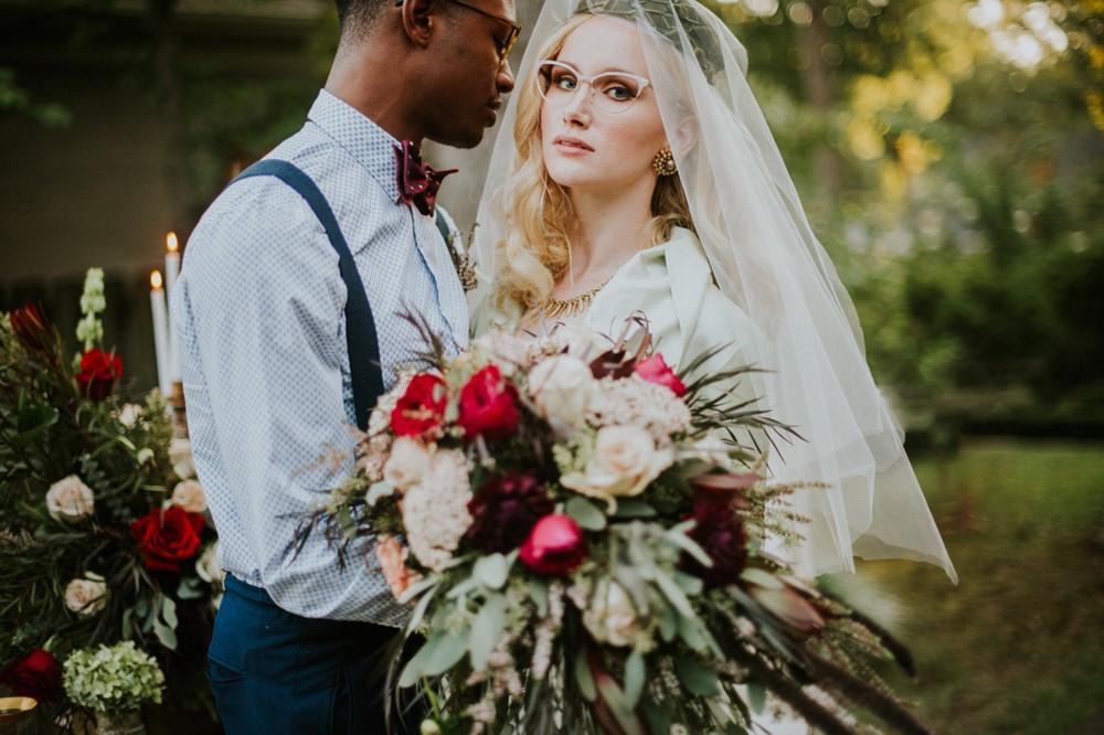 Romantic 1950s Inspired Bride + Groom // Photography ~ Myranda Randle Photography