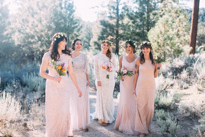 Mismatched Boho Bridesmaids // Photography ~ The Darlene