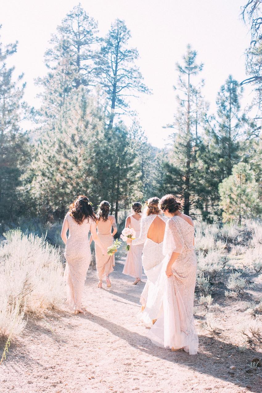 Mismatched Boho Vintage Bridesmaids // Photography ~ The Darlene
