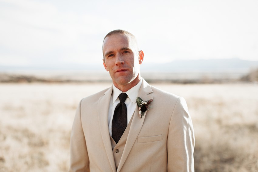 Desert Groom's Attire // Photography ~ Elizabeth Wells Photography