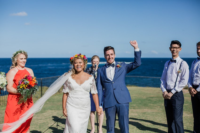 Coastal Boho- Vintage Wedding Ceremony // Photography ~ Bless Photography