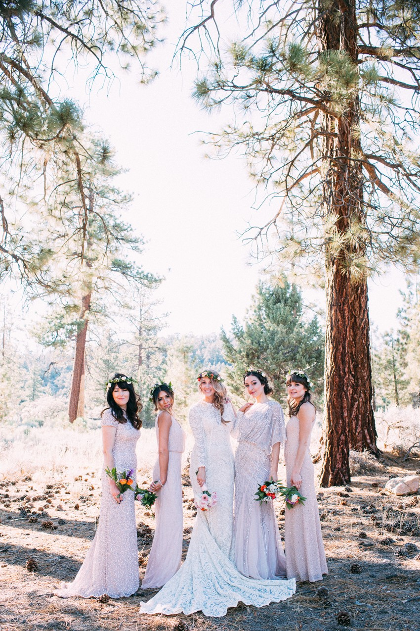 Boho Bride & Mismatched Bridesmaids // Photography ~ The Darlene