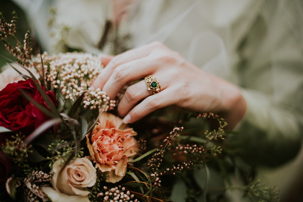 Vintage Emerald Engagement Ring // Photography ~ Myranda Randle Photography