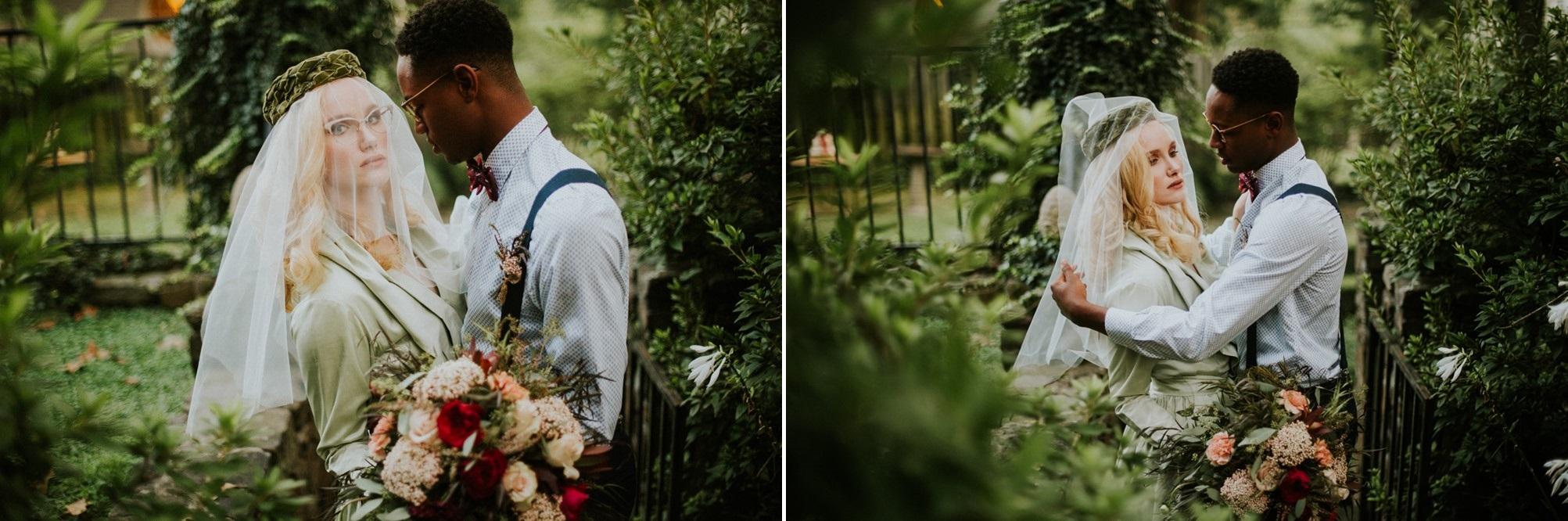 Retro Vintage Bride + Groom // Photography ~ Myranda Randle Photography