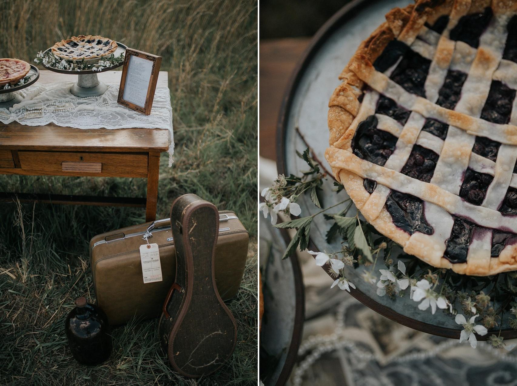 Rustic Vintage Wedding Pie