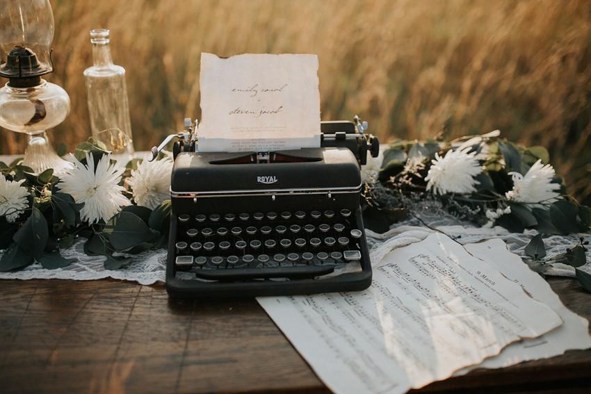 Vintage Typewriter Wedding Decor