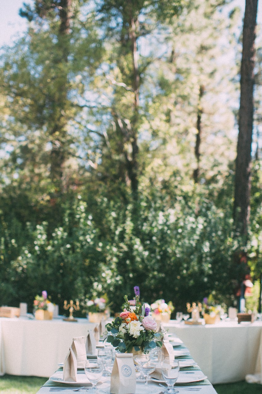 Glamping Wedding Reception