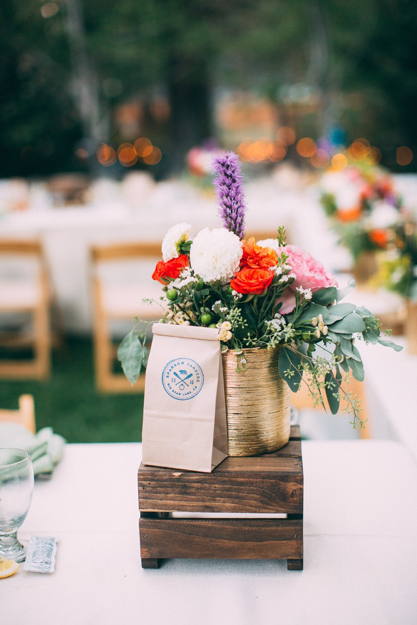 Glamping Wedding Floral Centerpiece