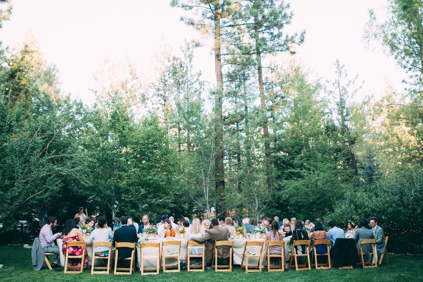 Glamping Outdoor Wedding Reception