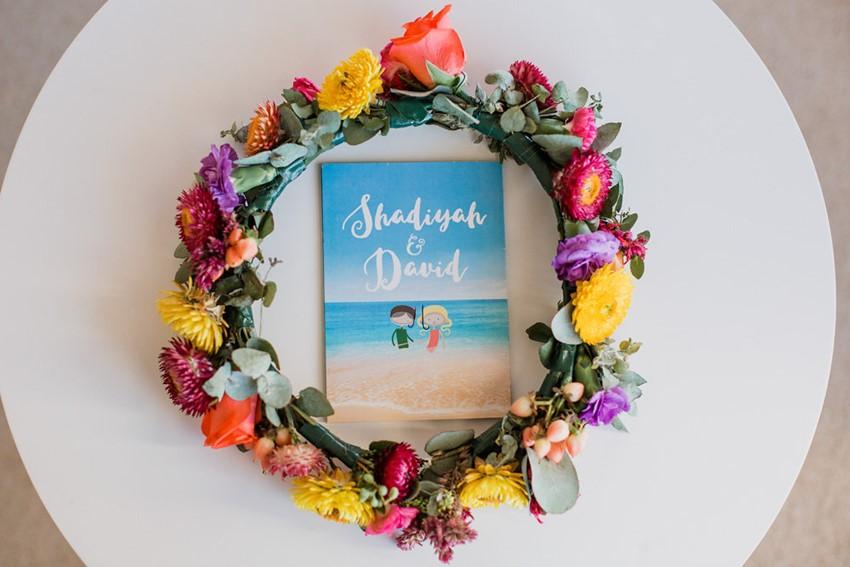 Boho-Vintage Beach Wedding Invitation // Photography ~ Bless Photography