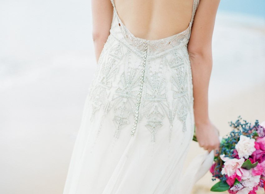 Exquisitely embellished vintage wedding dress // Photography ~ Love Note Photography