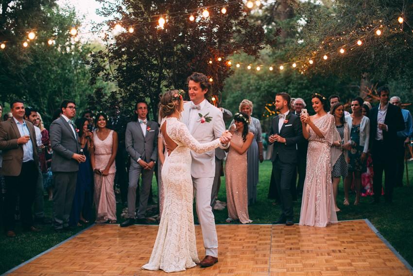 Glamping Outdoor Wedding Dancefloor