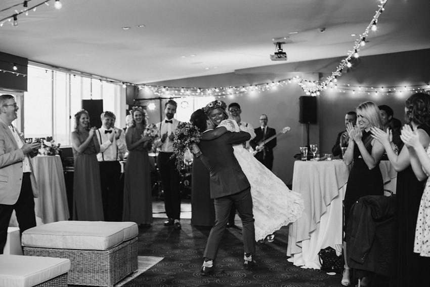 Boho-Vintage Bride & Groom's Reception Entrance // Photography ~ Bless Photography