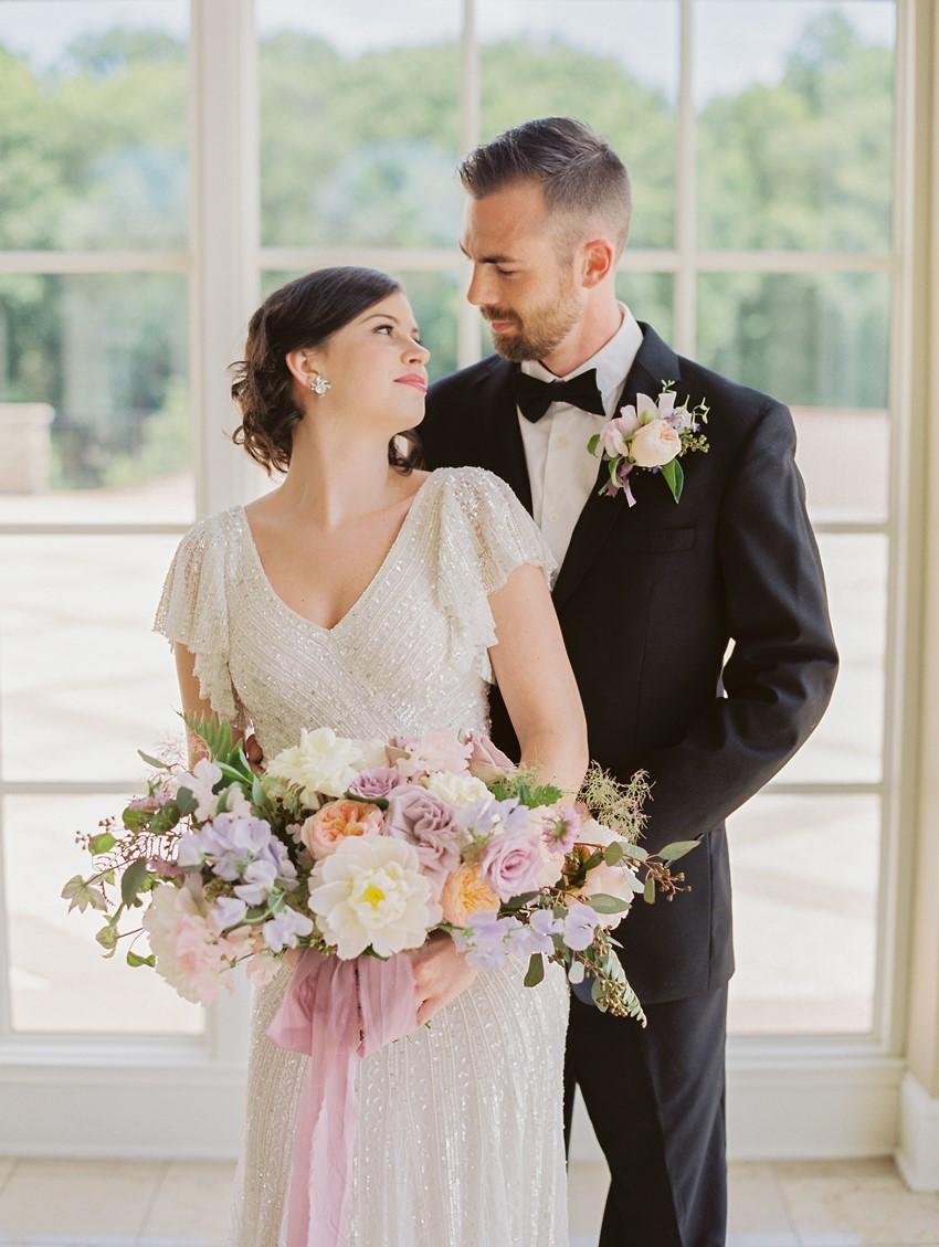 Romantic Great Gatsby Inspired Bride & Groom // Photography ~ CJK Visuals