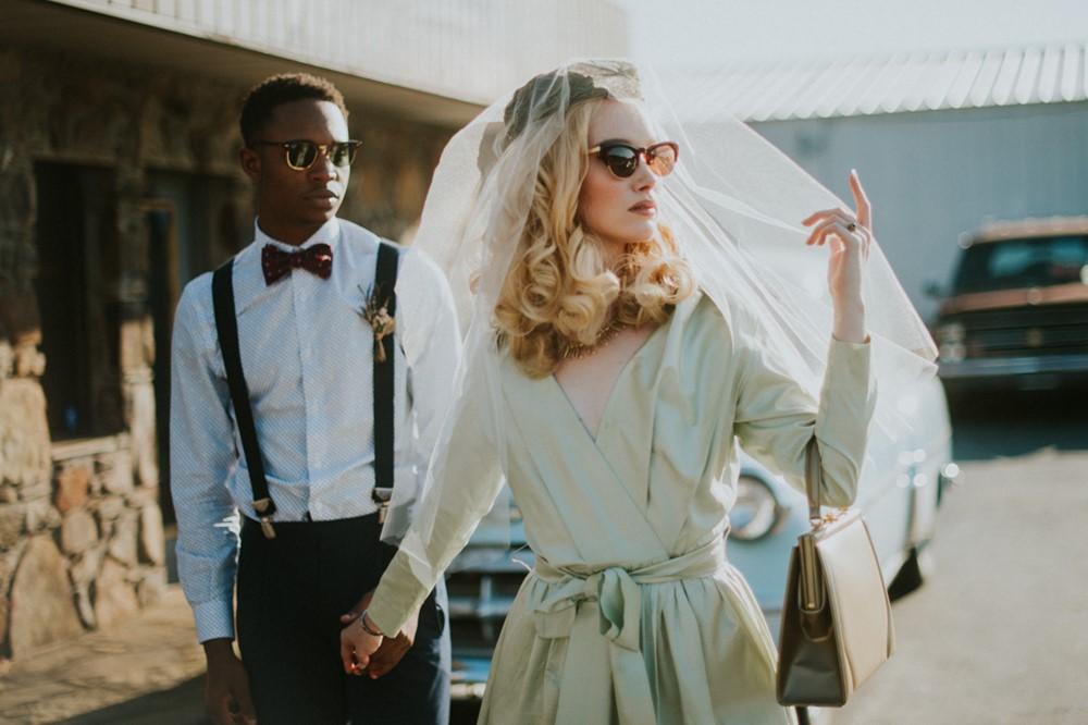 Stylish Mid-Century Bride + Groom // Photography ~ Myranda Randle Photography