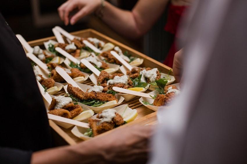 Mini Fish Wedding Food // Photography ~ Bless Photography