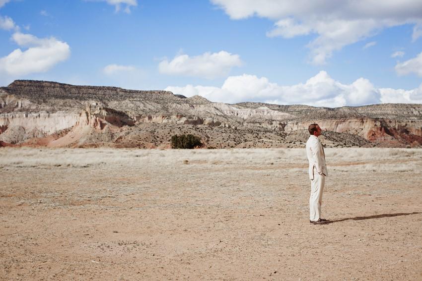 Desert Wedding First Look // Photography ~ Elizabeth Wells Photography