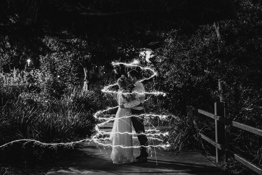 Sparkler Wedding Photos // Photography ~ Bless Photography