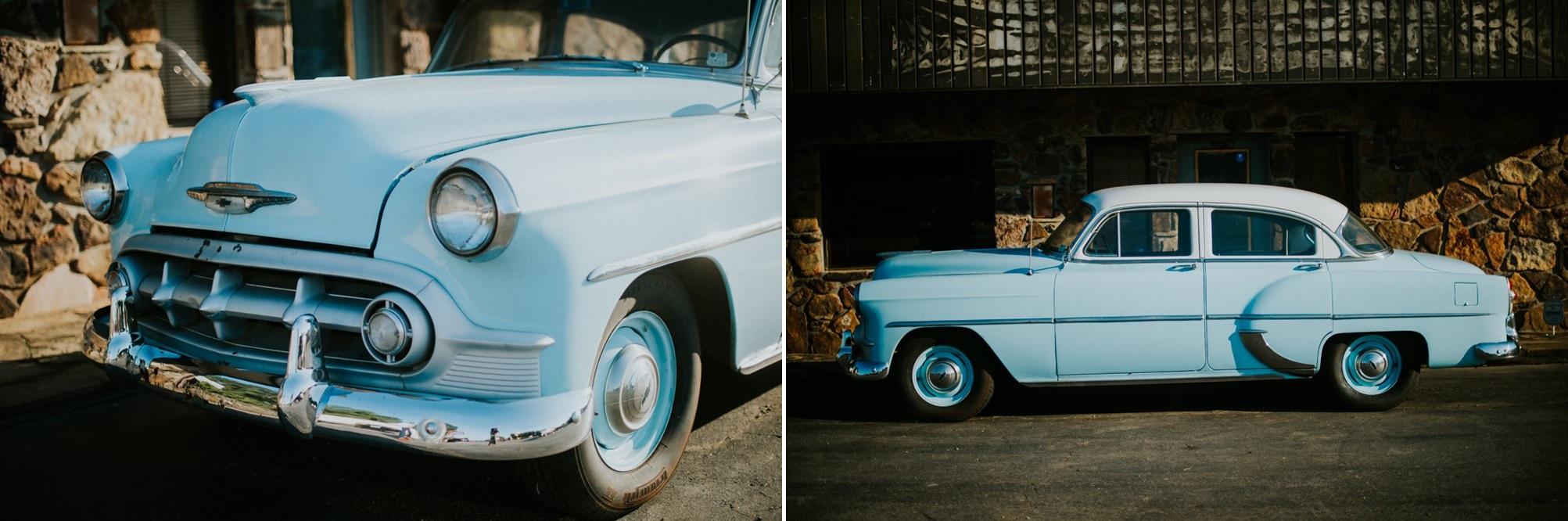 Stylish Mid-Century Vintage Wedding Car // Photography ~ Myranda Randle Photography