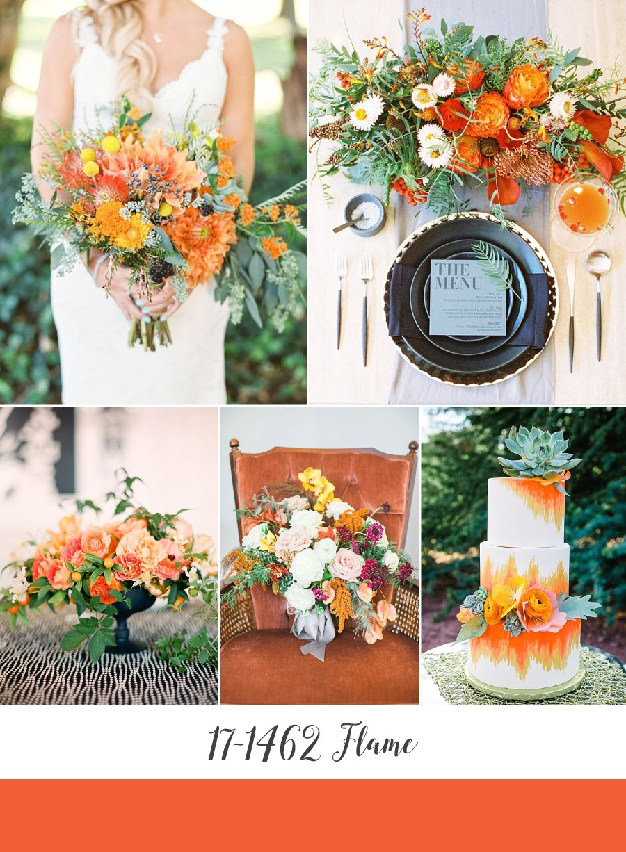 Flame Orange Wedding Inspiration Board