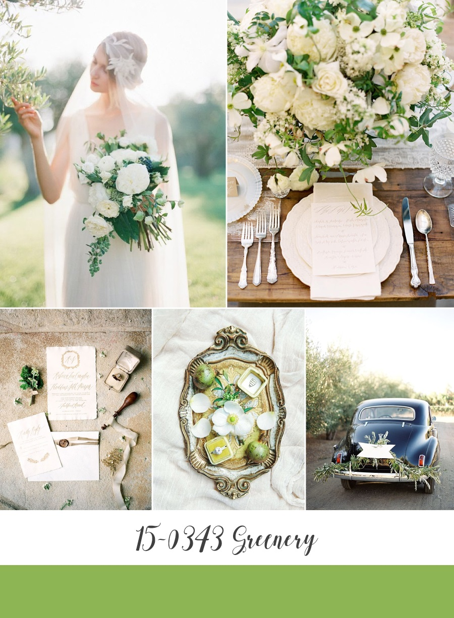 Greenery Spring Wedding Inspiration Board