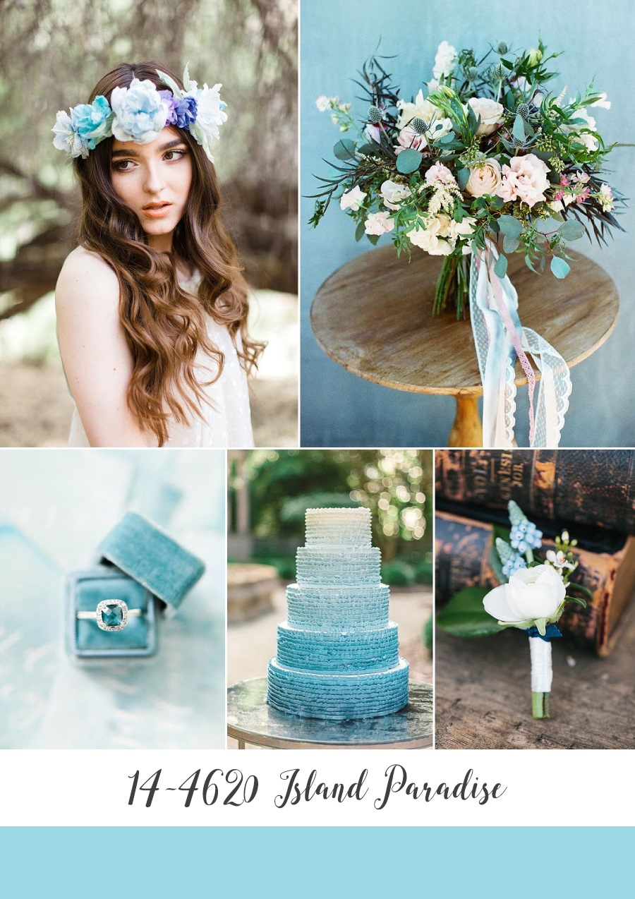 Island Paradise Spring Wedding Inspiration Board