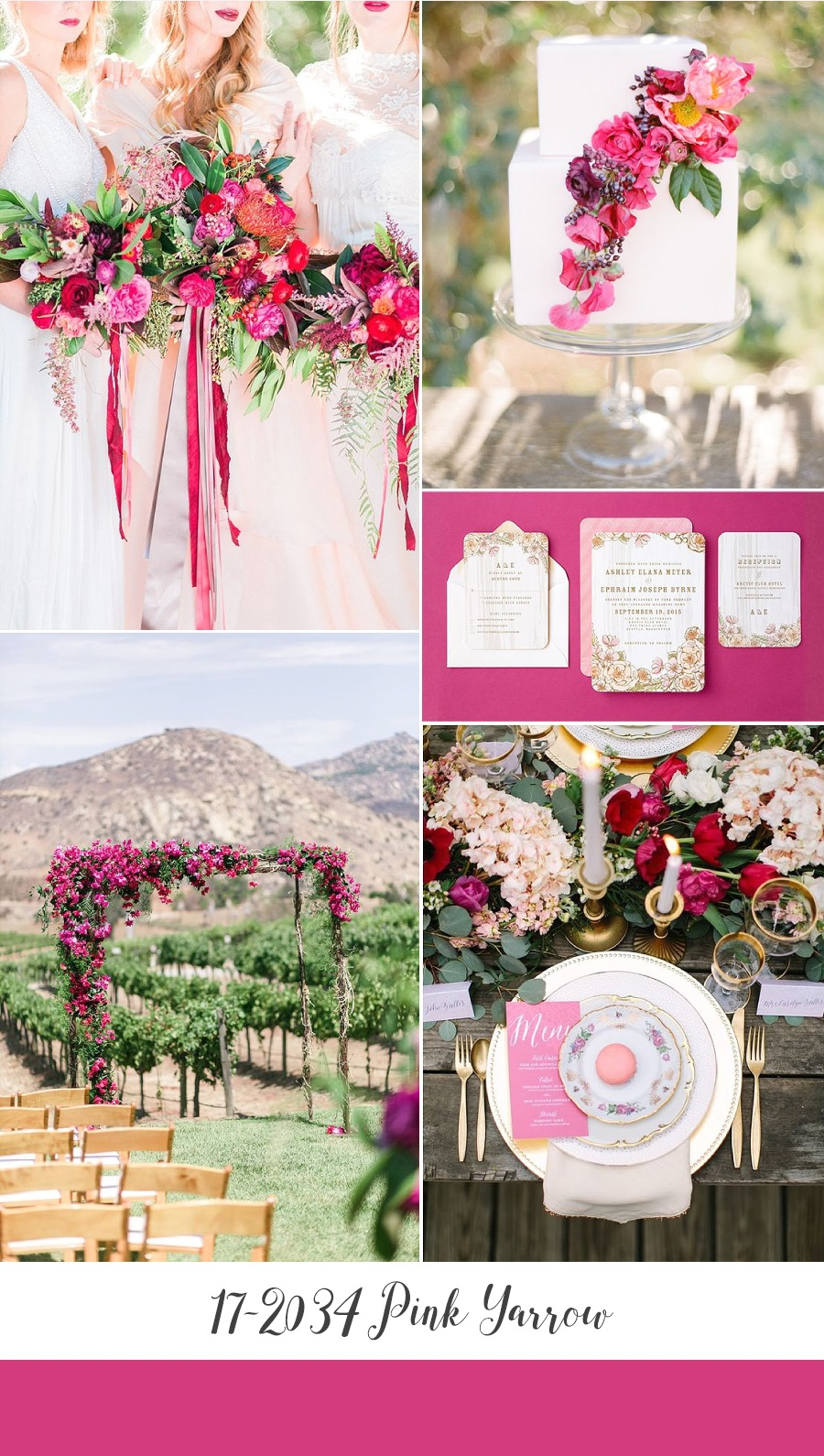 Fuchsia Pink Wedding Inspiration Board