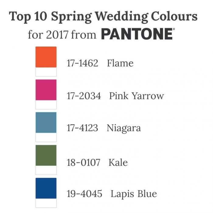 Top 10 Spring Wedding Colours for 2017 from Pantone - Part II