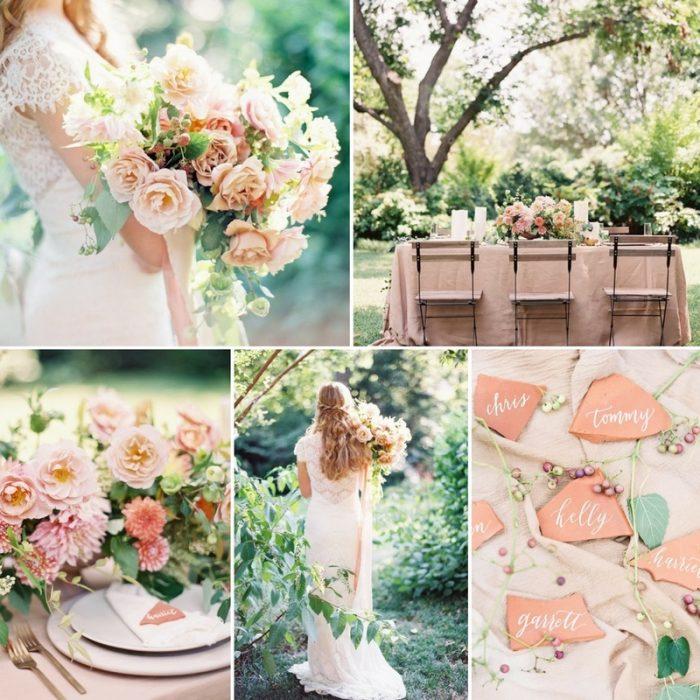 Floral Filled Terracotta Garden Wedding Inspiration
