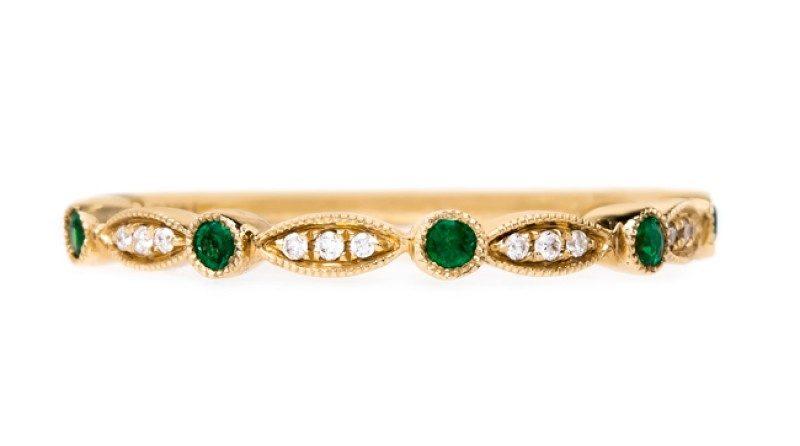 Emerald & Diamond Wedding Ring