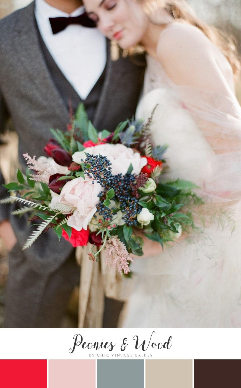 Romantic Winter Wedding Color Palette