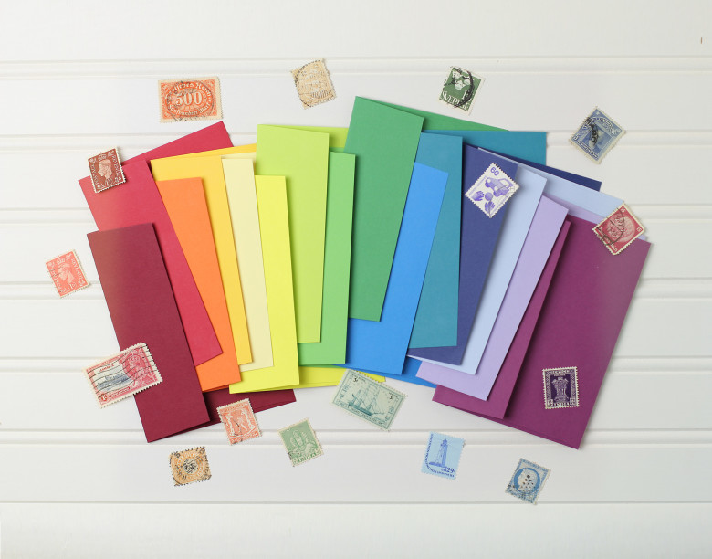 Coloured Wedding Invite Envelopes from Basic Invite
