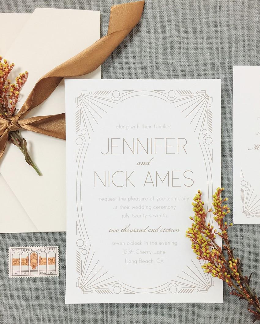 Vintage Wedding Stationery from Basic Invite