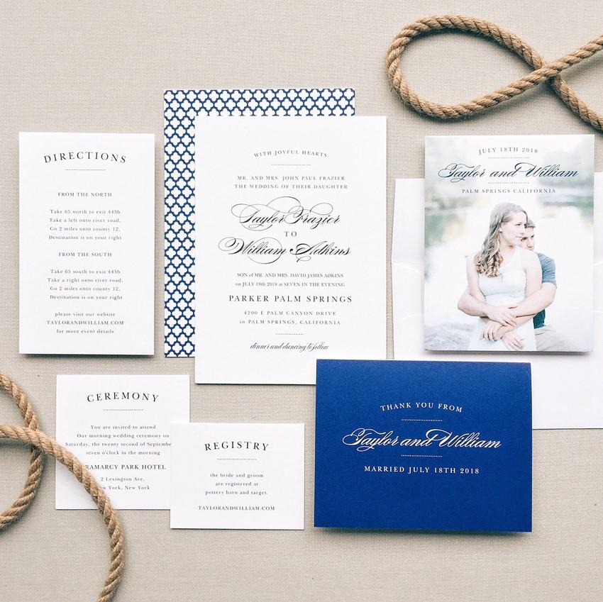 Nautical Wedding Invitation Suite from Basic Invite