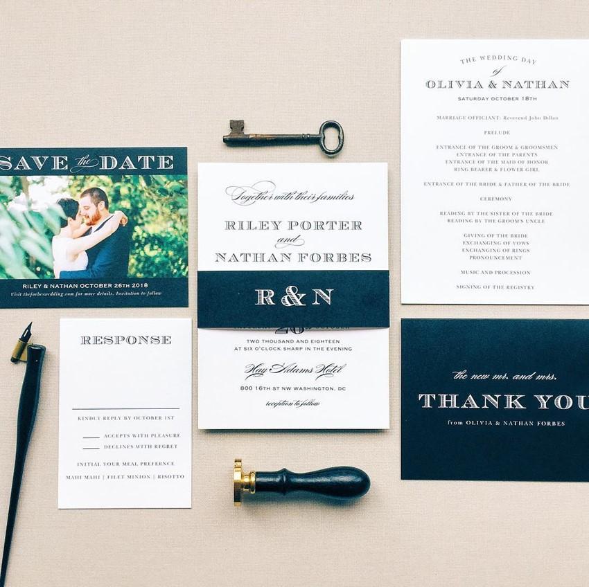 Custom Wedding Stationery Suite from Basic Invite